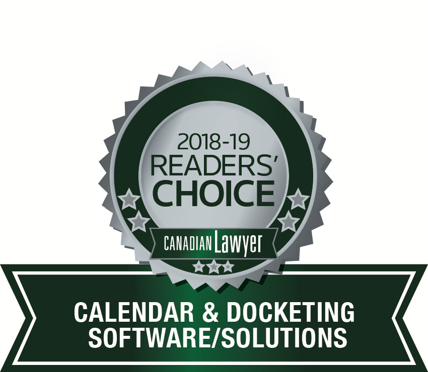 2019 Canada's best Calendaring and Docketing Software