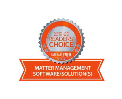 2020 Canada's best Matter Management & Legal Accounting Software